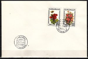 Syria, Scott cat. 967-968. Int`l Flower Show issue. First day cover. ^