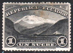 Ecuador. 1908. 173 from the series. Mountains, landscape of Ecuador. MLH.