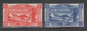 Ireland Sc 133-4 1946 Plowman stamps mint
