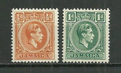 1951 Jamaica KGVI C/S of 2 MNH