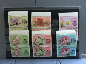 Panama Flowers  50 years Cámara Junior stamps pairs R25463