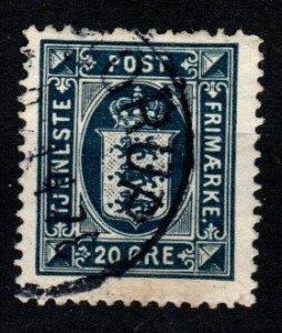 Denmark #O24 F-VF Used CV $20.00 (X8948)