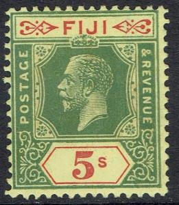 FIJI 1922 KGV 5/- WMK MULTI SCRIPT CA