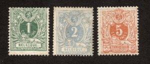 Belgium - Sc# 40, 41, 42a MH (rem/ #41 used)    -    Lot 0620342