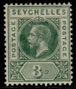 SEYCHELLES GV SG99, 3c green, M MINT.
