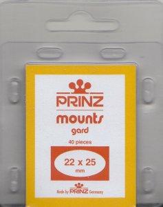 PRINZ 22X25 (3) CLEAR MOUNTS RETAIL PRICE $3.99