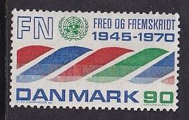 Denmark  #476   MH  1959   United nations anniversary