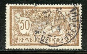 France # 123, Used. CV $ 1.65