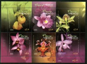 MEXICO 2728 Orchids Souvenir Sheet. MINT, NH. VF.