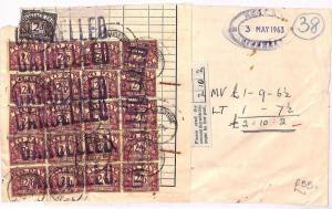 AU79 1963 GB Postage Due *KENT* {samwells-covers}PTS
