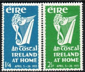 1953 Ireland National Festival  complete set ML-MH Sc# 147 / 148 CV $27.25
