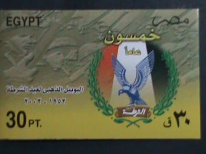 EGYPT.2002-SC# 1816 50TH ANNIVERSARY OF POLICE DAY -IMPERF:  MNH S/S VERY FINE