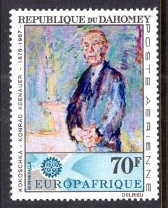 Dahomey #C58 MNH CV$2.00 Europafrique CEPT Adenauer