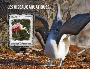 CENTRAL AFRICAN REP. (CENTRAFRIQUE) / 2019 Water birds.Block.Imperf.