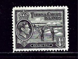Turks and Caicos 77-89 MNH 1938-45 Definitive Set