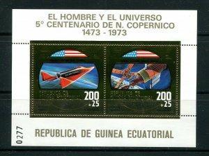 x42 - EQUATORIAL GUINEA 1973 Gold Foil Souvenir Sheet. Space Travel Skylab. MNH