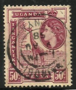 Kenya, Uganda, Tanzania 1954-59 Scott# 110 Used
