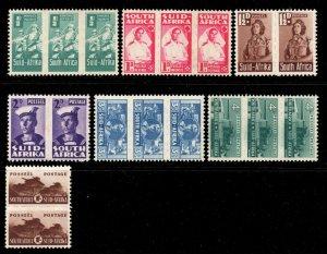 South Africa 1942 KGVI War Effort p/set (no 6d) SG 97-104 mint CV £50