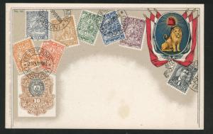 Paraguay Ottmar Zieher flat OZ stampcard No.64 Tiskopis cx.