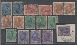VENEZUELA 1882 Sc 74-78 (15x) SPECIALIZED INCLUDING TOP VALUE ON PIECE F,VF