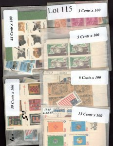 US Postage Below Face, FREE SHIPPING, $110 Face Value for only 76.95 Lot 115