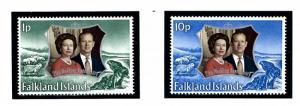 Falkland Is 222-24 MNH 1972 QEII Silver Wedding