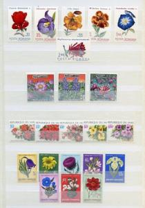 WORLDWIDE FLOWERS ON STAMPS AND SOUVENIR SHEETS MINT NH LOT VI AS SHOWN