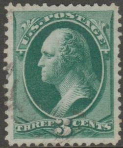 #158 3¢ WASHINGTON SUPERB WITH FAINT BLACK CANCEL -- SHOWPIECE -- BL1477