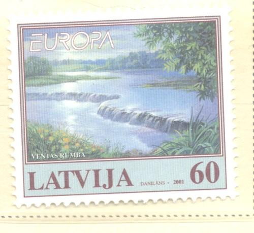 Latvia Sc 528 2001 Europa stamp mint NH