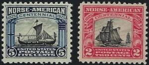 U.S. #620-21 M/NH 25% of SCV. $25   **FREE Domestic SHIPPING**