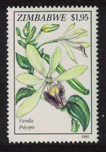 Zimbabwe $1.95 - Vanilla polyepis Orchid SG#862