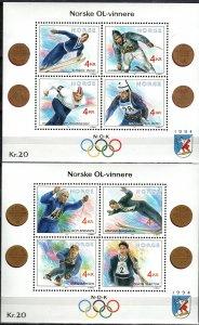 Norway #997, 1021  MNH CV $17.00 (X1406L)