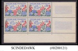 FRANCE - 1963 NANTES FLOWER FESTIVAL - BLOCK OF 4 - MINT NH