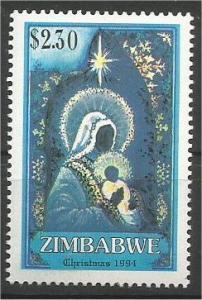 ZIMBABWE, 1994, MNH $2.30, Christmas Scott 719
