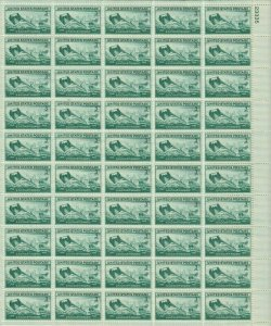 U.S. Coast Guard Complete Sheet of Fifty 3 Cent Postage Stamps Scott 936