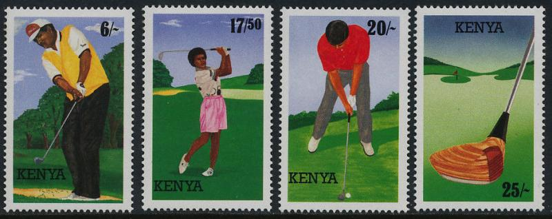 Kenya 642-5 MNH Sports, Golf