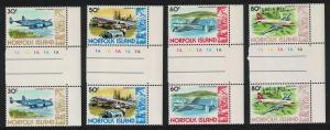 Norfolk Aircrafts 4v issue January 1981 Gutter Pairs SG#244=248