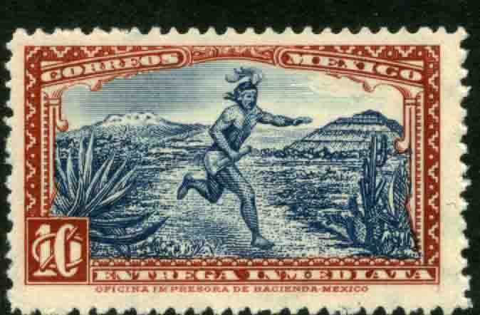 MEXICO E3, 10cts Aztec messenger. Special Delivery, UNUSED, H OG. F-VF.