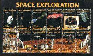 1994  MALDIVES  -  SG: 2134/2145  - SPACE EXPLORATION - UNMOUNTED MINT