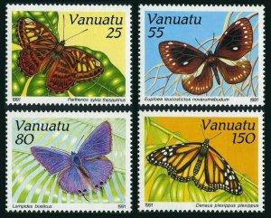 Vanuatu 532-535,MNH.Michel 856-859. Butterflies 1991.
