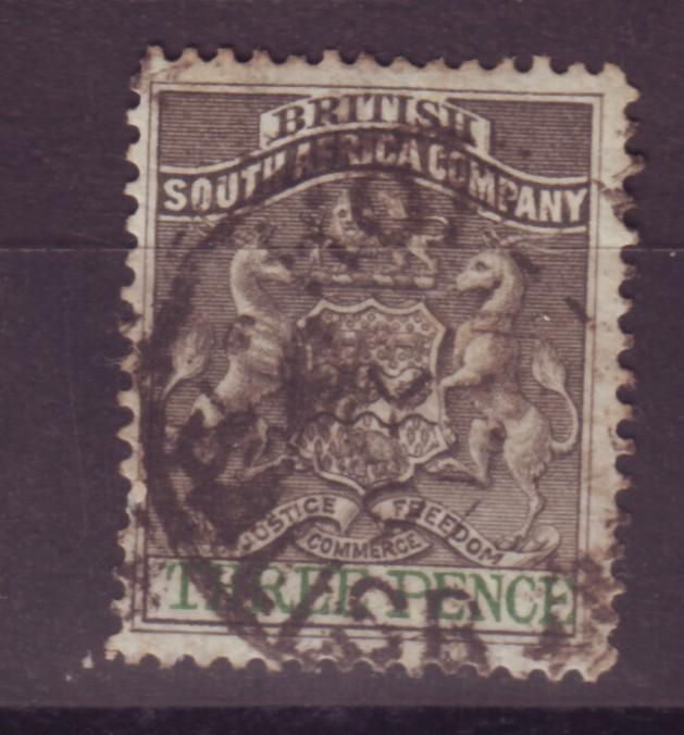 J17040 JLstamps 1890-4 rhodesia  used #4 coat of arms