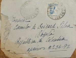 A) 1943, BRAZIL, SENT TO BOGOTA REPUBLIC OF COLOMBIA