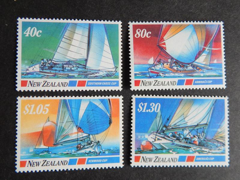 NEW ZEALAND 1987 YACHTING EVENTS SET OF 4 STAMPS ALL MNH