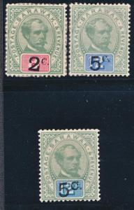 SARAWAK 22-24 MINT HINGED, TOP VALUE #24 LH