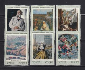 Russia 4103-4108 Set MNH Art, Paintings (A)