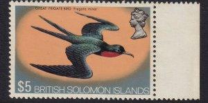 SOLOMON ISLANDS 1975 $5 Frigate Bird MUH (0575)