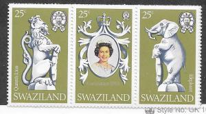 Swaziland MNH 302a-c Queen Elizabeth II
