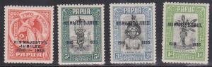 Papua - 1935 Silver Jubilee Set F-VF-H #114-117