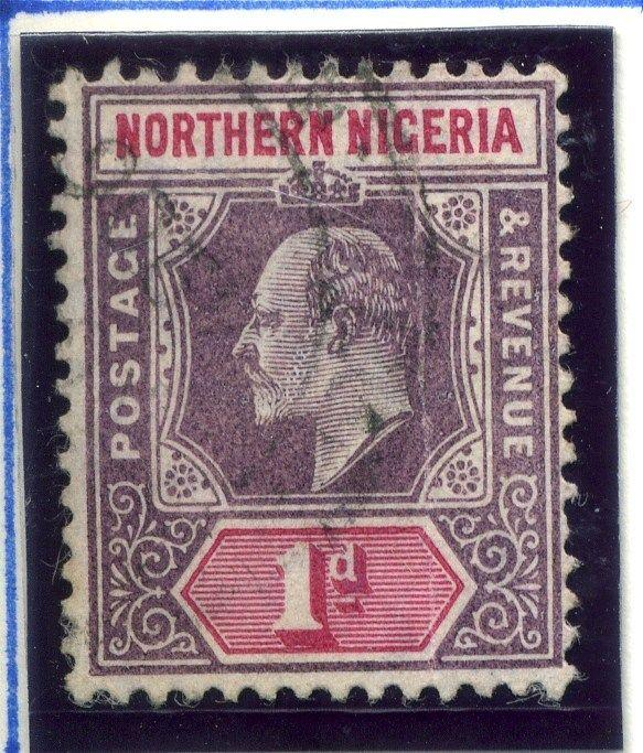 NORTHERN NIGERIA;  1904 early classic Ed VII issue used 1d. value