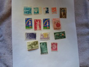 israel stamps  mixed con 15 stamps ( 12